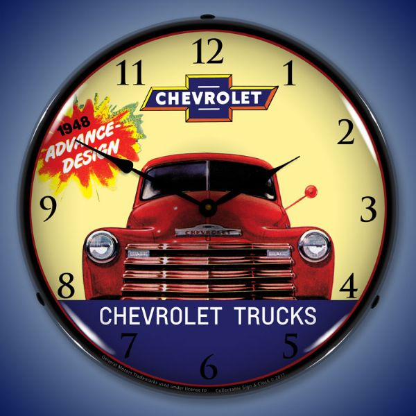 1948 Chevrolet Truck Lighted Clock