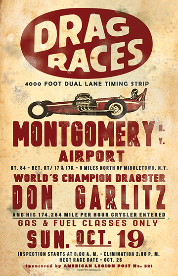 "1958 Montgomery Airport Don ""Garlitz"" Drag Race Poster"