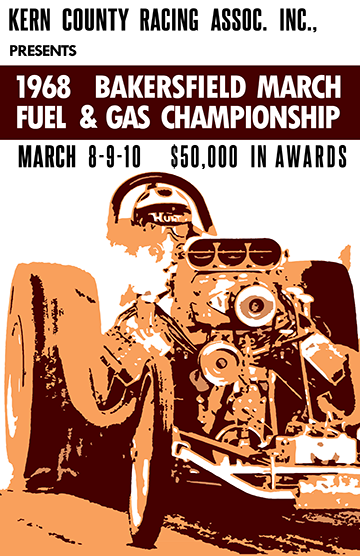 1968 Bakersfield Fuel & Gas Championship Poster