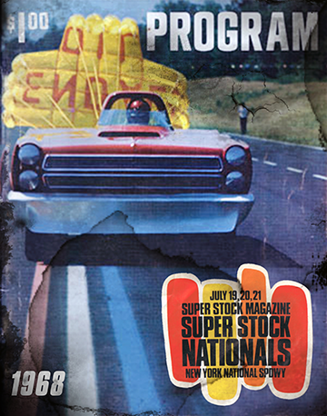 1968 Super Stock Nationals Program Aluminum Sign
