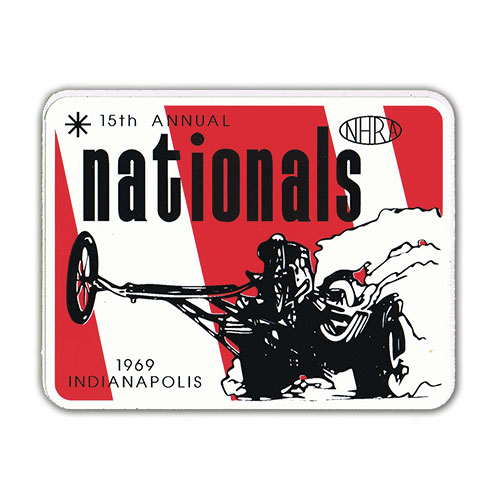 1969 15th Annual NHRA Nationals Decal