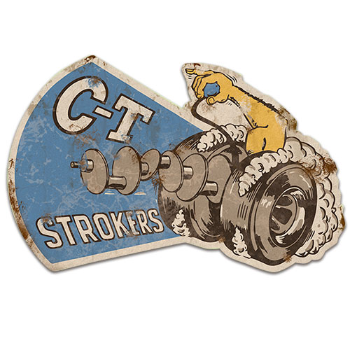 C-T Strokers Metal Sign