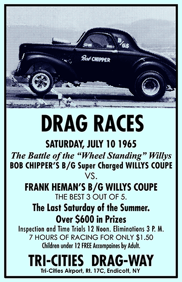Battle of the Wheel Standing Willys Tri-Cities Dragway Poster