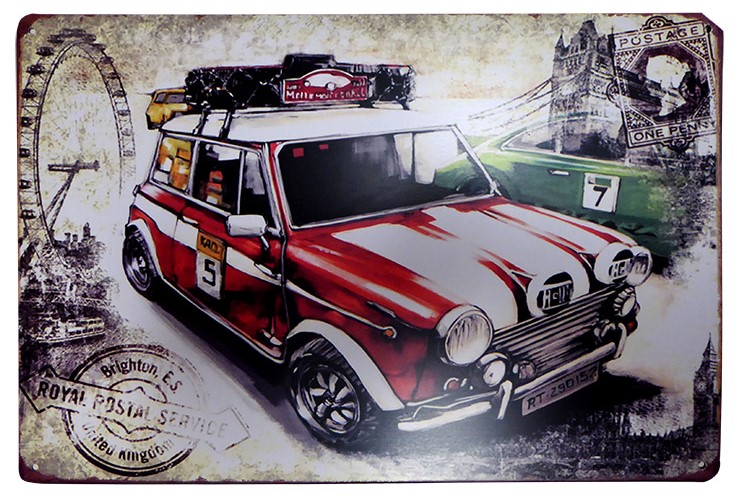 British Road Rally Tin Sign