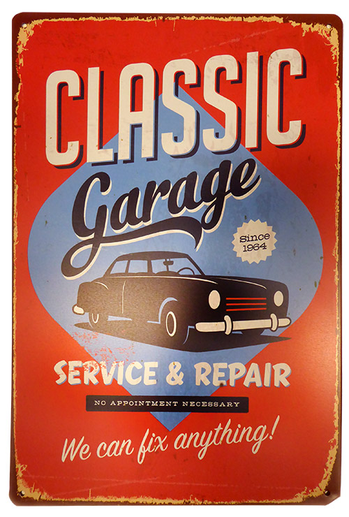Classic Garage Tin Sign