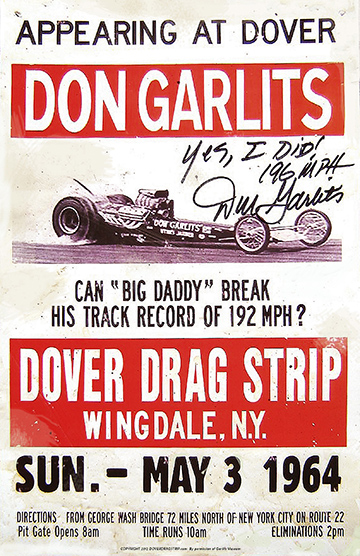 Exclusive Garlits at Dover Autographed Poster