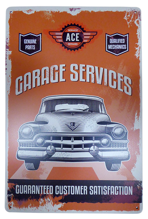 Garage Services Tin Sign