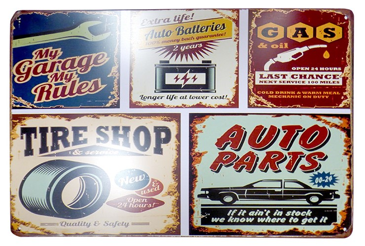 Garage Tin Sign