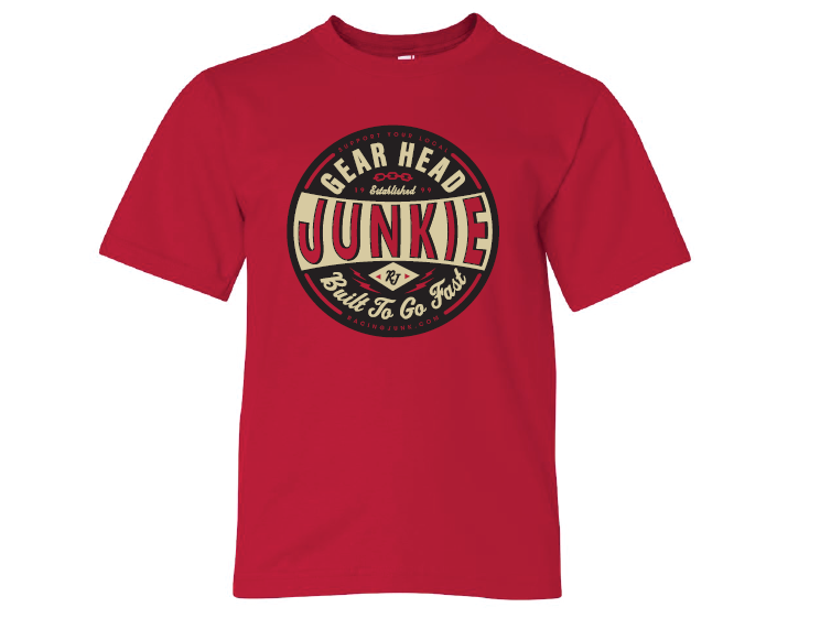 RacingJunk Kids Gear Head T-Shirt