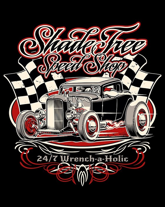 ShadeTree Speed Shop Winners Circle Red Shirt