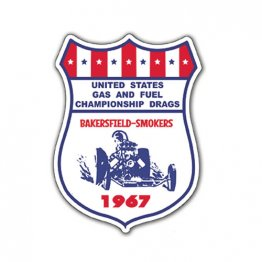 1967 Bakersfield US Gas and Fuel Championship Drags Decal