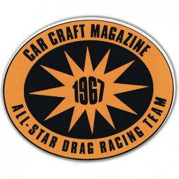 1967 Carcraft Magazine All Star Racing Team Decal