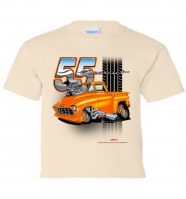 '55 Chevy Truck Tooned Up Youth T-Shirt