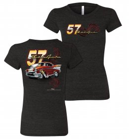 Ladies Tooned Up '57 Chevy Bel Air T-Shirt