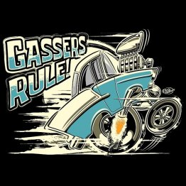 Gassers Rule! 'Tooned Up Turquoise Shirt