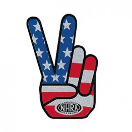 NHRA Peace Hand Vintage Style Metallic Decal