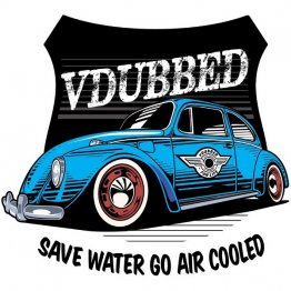 Save Water Go Air Cooled Blue Shirt
